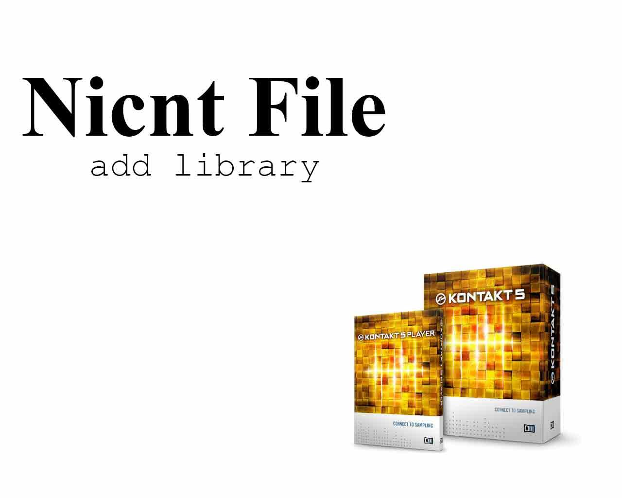 آموزش ساخت فایل nicnt برای استفاده وی اس تی از Add Library در کنتاکت
