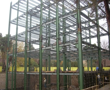پاورپوینت بررسی ساختمانهای اسکلت فلزی